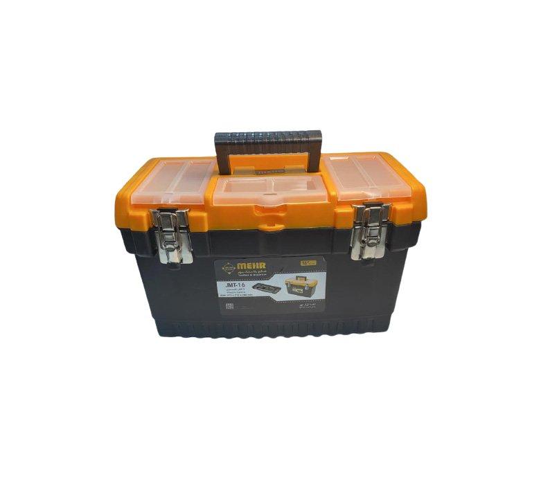 جعبه ابزار پلاستيکي 16 اينچ قفل فلزي بلند مهر JMT16