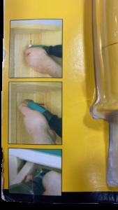 رابط نوک پیچ گوشتی 1 4 زرد بلند 90 درجه
